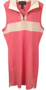 Ralph Lauren short dress pink and white on Tradesy