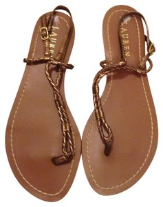 Ralph Lauren gold brown Sandals