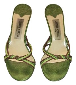 Jimmy Choo green and brown Sandals