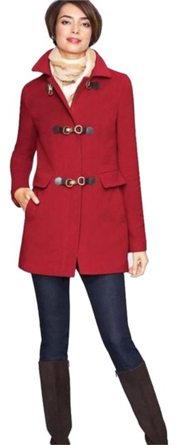Item - Red Wool with Thinsulate Coat Size Petite 12 (L)