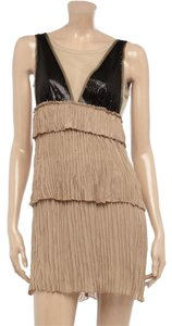 BCBGMAXAZRIA Crepe Sequin Tiered Gatsby-inspired Roaring 20s Dress