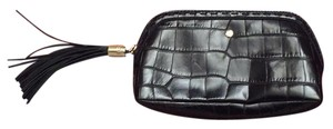 Lancel lancel black tassel cosmetic case