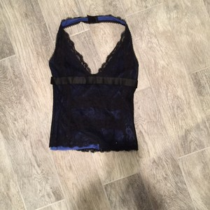 Dolce&Gabbana Black w/Electric blue lining Halter Top