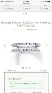 Jared 1/2 Karat Diamond Enhancer Wedding Band