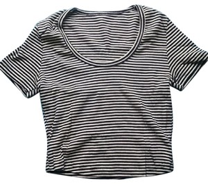 American Apparel T Shirt Navy Striped