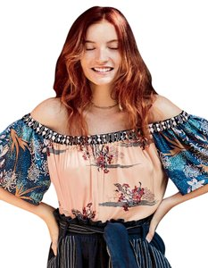 Free People Off The Peasant Top Multi-color
