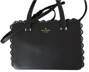 Kate Spade Scalloped Detail Dust Cover Satchel in black