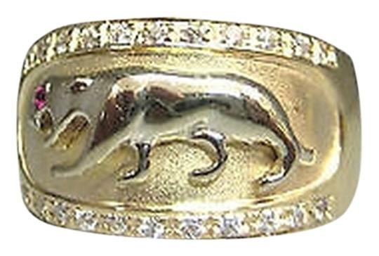 Preload https://item3.tradesy.com/images/14k-yellow-gold-panther-cougar-red-stone-eye-ladies-ring-size-75-2069527-0-0.jpg?width=440&height=440