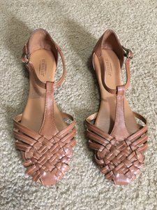 Seychelles T-strap Closed Toe Hurache Tan, whiskey, cognac Sandals