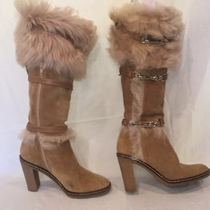Coach Tan with Faux Fur Boots