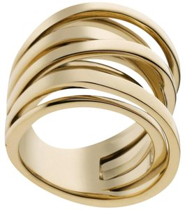 Michael Kors size 7 NWT Brilliance Gold Interwoven Ring MKJ2597710