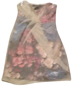 Karen Millen short dress cream & muti floral on Tradesy
