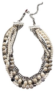 New York & Company Metal and Pearl Necklace