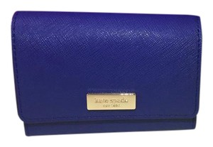 Kate Spade New York Holly Business Card Case Royal Blue Clutch