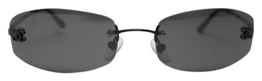 Chanel Black Rimless Sunglasses