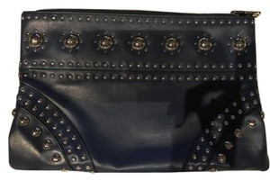 Prada Navy blue with silver hardware Clutch