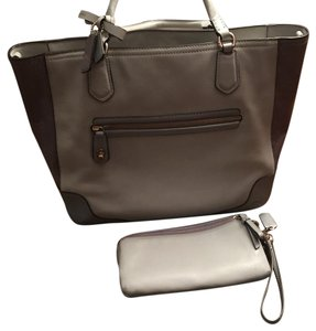Coach Satchel in grey and purple