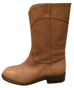 Chanel Ascot Riding Cc Brown Boots
