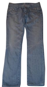 7 For All Mankind Size 30 Straight Leg Jeans-Medium Wash