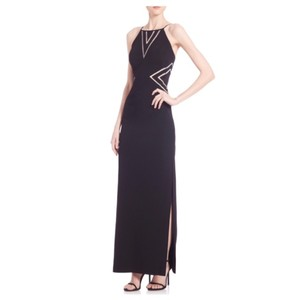 Black Maxi Dress by Aidan Mattox Illusion Cutout Gown