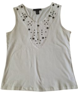 Designers Originals Top Off white with brown beads