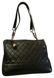 Chanel Quilted Vintage Vintage Tote in black