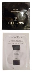 Giorgio Armani New Fluid Sheer & Smashbox Photo Finish Foundation Primer Samplers