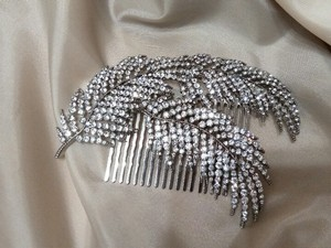 9.2.5 Large Crystal Leaf Bridal Hair Come Cluster New Bridesmaid