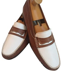 Bally tan and off white Flats