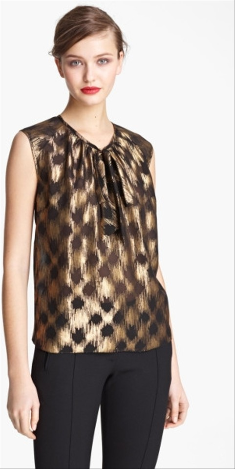 Gold Blouse Silk Wu Jason Wu Wu Gold Jason Silk Gold Blouse Jason d1n7w