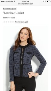 Nanette Lepore Lace Grey Black Black/grey Jacket