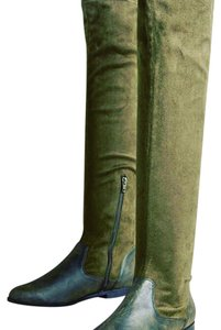 Anthropologie olive Boots