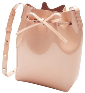 Mansur Gavriel Bucket Patent Leather Pink Mini Shoulder Bag