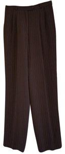 Talbots Womens Dress Trouser Pants Black red white pinstripes