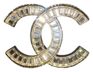 Chanel CHANEL 2016 Authentic Crystal Strass CC Brooch