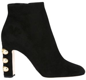 Dolce&Gabbana Embellished Booties (38) Black Suede Boots