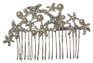 Other Comb flower vine silver crystal rhinestone wedding bling bridesmaid