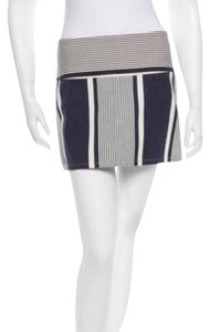 Alice + Olivia Mini Skirt Navy and white