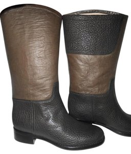Chanel Cc Two Tone Black/Brown Boots