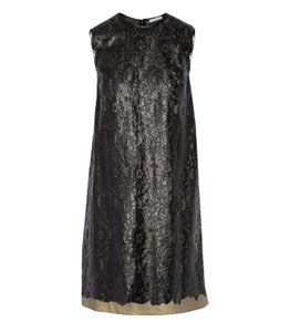 tomas maier Luxury Lace Metallic Mini Chic Dress