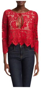For Love & Lemons Top HOT RED