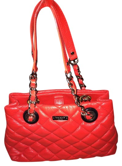Kate Spade Quilted Red Leather Shoulder