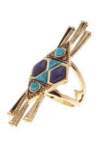 House of Harlow 1960 House of Harlow 1960 Geo Tassel Statement Cocktail Ring - Size 7
