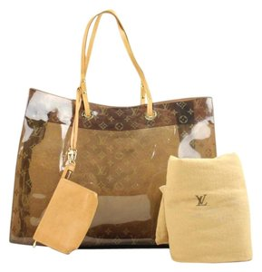 Louis Vuitton Neverfull Cabas Ambre Amber Tote in Clear