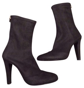 Chanel Stretch Suede Black Boots