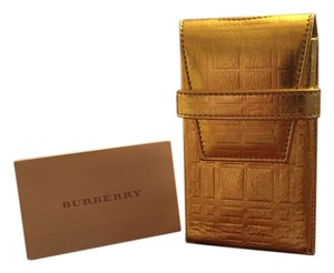 Burberry Limited Edition Burberry Metallic Gold Leather iPhone iPod Case
