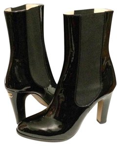 Chanel Patent Leather Black Boots