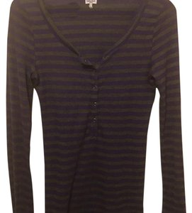 Splendid T Shirt purple and gray striped