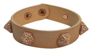Vince Camuto rose gold studded leather bracelet