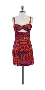 Mara Hoffman short dress Orange Multi Color Print on Tradesy